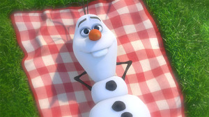Olaf-lying-in-the-grass-in-Frozen